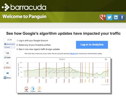 パンダアップデート&ペンギンアップデートの影響を受けたかチェックする「Panguin」