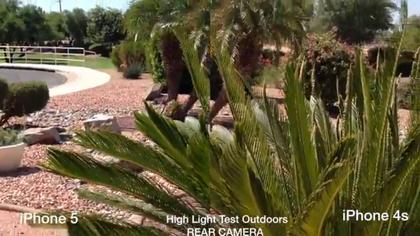 「iPhone 5」と「iPhone 4S」の動画撮影性能を比較した動画