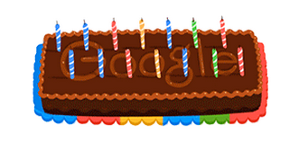 Googleロゴ「Google生誕14周年」に