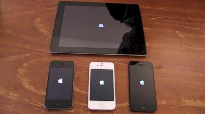 「iPhone 5」「iPhone 4/4S」「iPad 3」のパフォーマンスを比較した動画