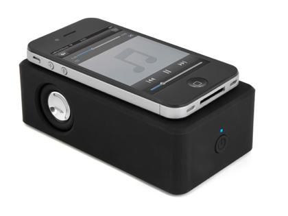 スマートフォンを載せるだけで音がアンプスピーカーに転送される「Touch AMP(TA-831)」