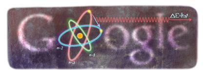 Googleロゴ「ニールス ボーア」に