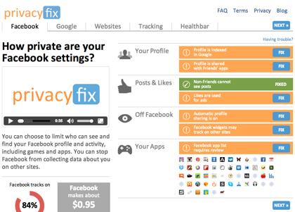 Facebookのプライバシー設定を管理するGoogle Chrome機能拡張「Privacyfix」