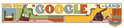 Googleロゴ「夢の国のリトル ニモ」に