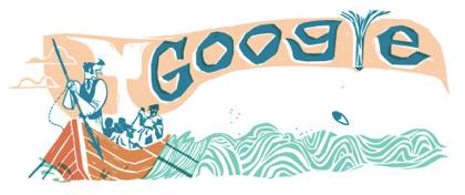 Googleロゴ「モビー ディック」に