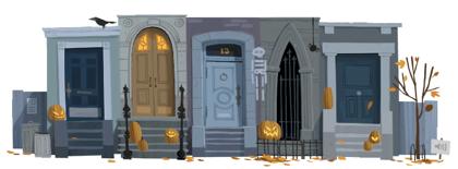 Googleロゴ「ハロウィン」に