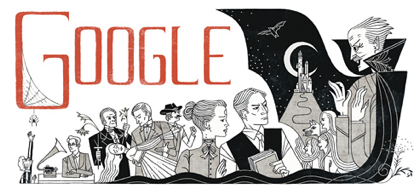 Googleロゴ「ブラム ストーカー」に