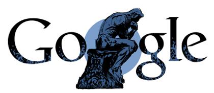 Googleロゴ「オーギュスト ロダン」に