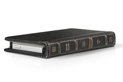 古い洋書のようなiPhone革ケース「BookBook for iPhone 5」