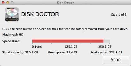 「DISK DOCTOR」HDDの不要なファイルを削除して容量を増やすMacアプリ