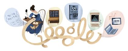 Googleロゴ「エイダ ラブレス」に
