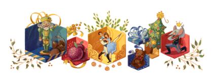 Googleロゴ「くるみ割り人形」に