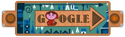 Googleロゴ「グリム童話」に