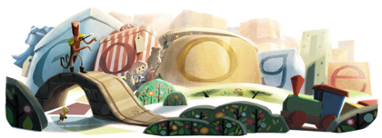 Googleロゴ「2012 年末」に(12/25)