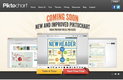 インフォグラフィックをウェブブラウザで作れるサービス「Piktochart」