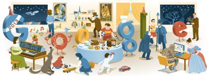Googleロゴ「大みそか」に