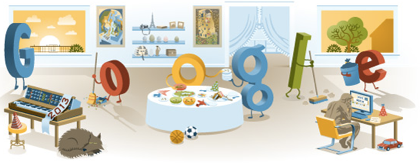 Googleロゴ「New Year's Day 2013」に