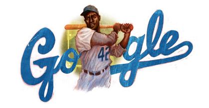 Googleロゴ「Jackie Robinson(ジャッキー・ロビンソン)」に
