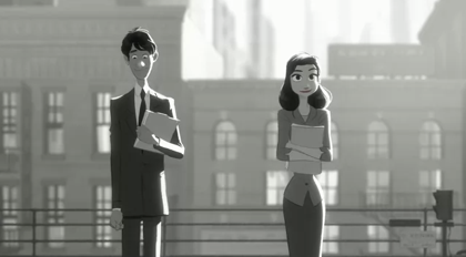 【動画あり】ディズニーの短編アニメ「Paperman」
