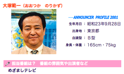 大塚範一キャスター、1年3ヶ月ぶり「めざましテレビ」出演