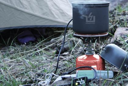 「Power Pot」お湯を沸かして発電!USB経由でスマートフォンを充電