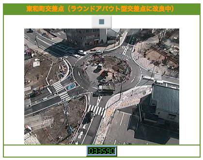 日本初の信号機を取り外した「ラウンドアバウト」交差点をライブカメラでウォッチしてみる