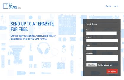 「SoShare」無料で1TBまでファイル共有できるサービス