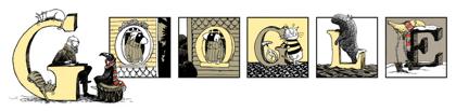 Googleロゴ「エドワード ゴーリー」に