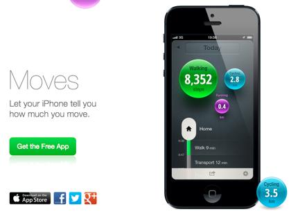 「Moves」ウォーキング/サイクリング/ランニングの行動を自動記録するiPhoneアプリ