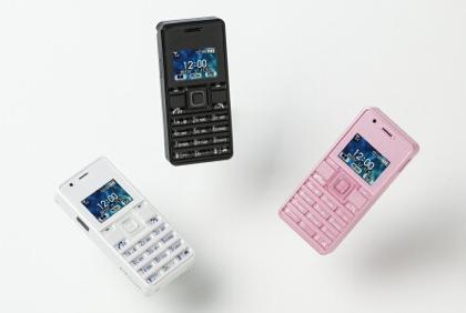 ウィルコムがフリスクサイズ第2弾「ストラップフォン2 (WX06A)」発表