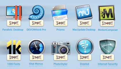 「Parallels Desktop」など総額618ドルのソフトを49.99ドルで販売する「MacUpdate March Bundle」セール実施中
