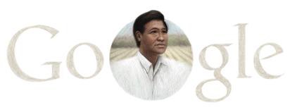 Googleロゴ「Cesar Chavez」に