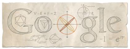 Googleロゴ「レオンハルト オイラー」に