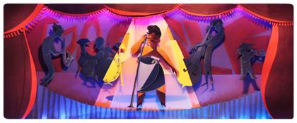 Googleロゴ「エラ フィッツジェラルド」に