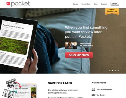 「Pocket」の使い方 〜ネット情報を