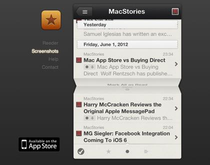 「Reeder」iPhone用RSSリーダアプリがローカルRSSに対応 → Googleリーダーの情報をインポートして移行完了