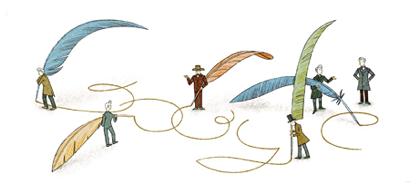 Googleロゴ「セーレン キェルケゴール」に