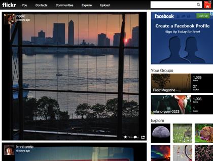 「Flickr」全面リニューアル → 容量1TBまで無料に → 写真アップロードもよくなってる!