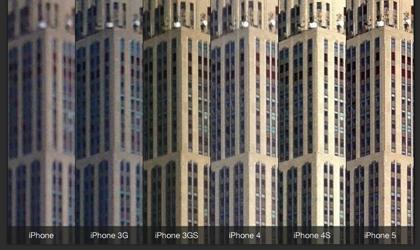 iPhone、iPhone 3GからiPhone 5までカメラの進化がよく分かる画像