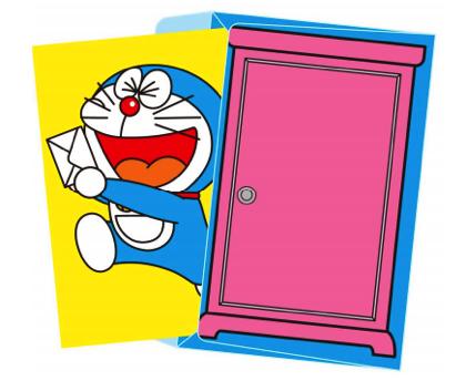 日本郵便、どこでもドアを封筒にした「ドラえもんレターセット」販売開始