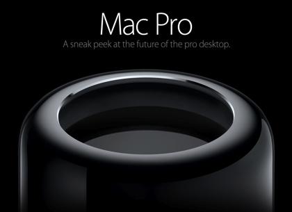 新しい「Mac Pro」発表 → 円筒形(!?)のプロ向けマシン
