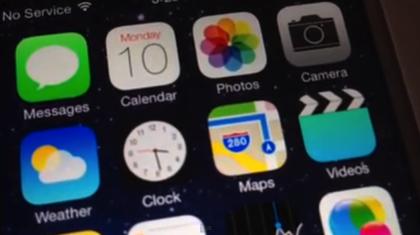 「iOS 7」時計アプリに表示される時間がリアルの時間と同じに!針が動く!