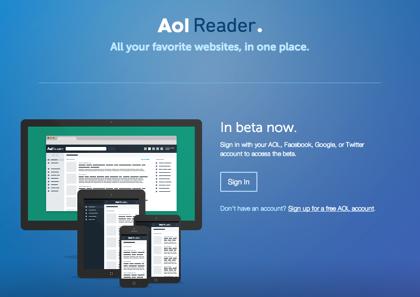 AOLからRSSリーダー「AOL Reader」