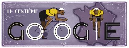 Googleロゴ「ツール ド フランス」に