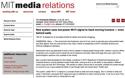 「Wi-Vi」WiFi電波で壁の向こうを見通す技術