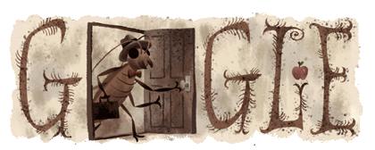 Googleロゴ「フランツ カフカ」に