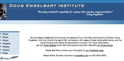 マウス、GUI、ハイパーテキストの生みの親であるダグラス・エンゲルバート、死去
