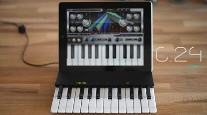 超絶ギミック!iPadカバーにもなるせり出すキーボード「C.24 - The Music Keyboard for iPad」