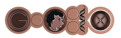 Googleロゴ「ロザリンド フランクリン」に