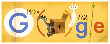 Googleロゴ「エルヴィン シュレーディンガー」に